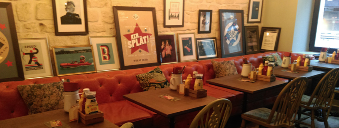 Banquette de restaurant, bar, brasserie, café, snack, chr ...